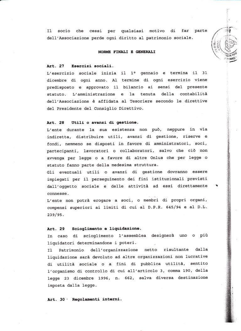 STATUTO ONLUS 13