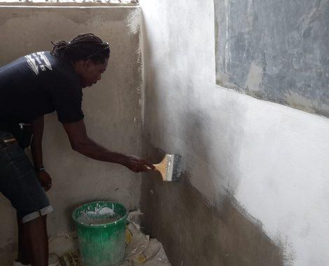 17 agosto - iniziamo a dipingere gli interni