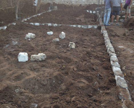 22 gennaio - il perimetro della nuova costruzione