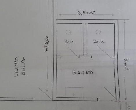 Planimetria del bagno